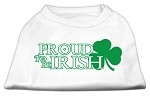 Proud to be Irish Screen Print Shirt White XL